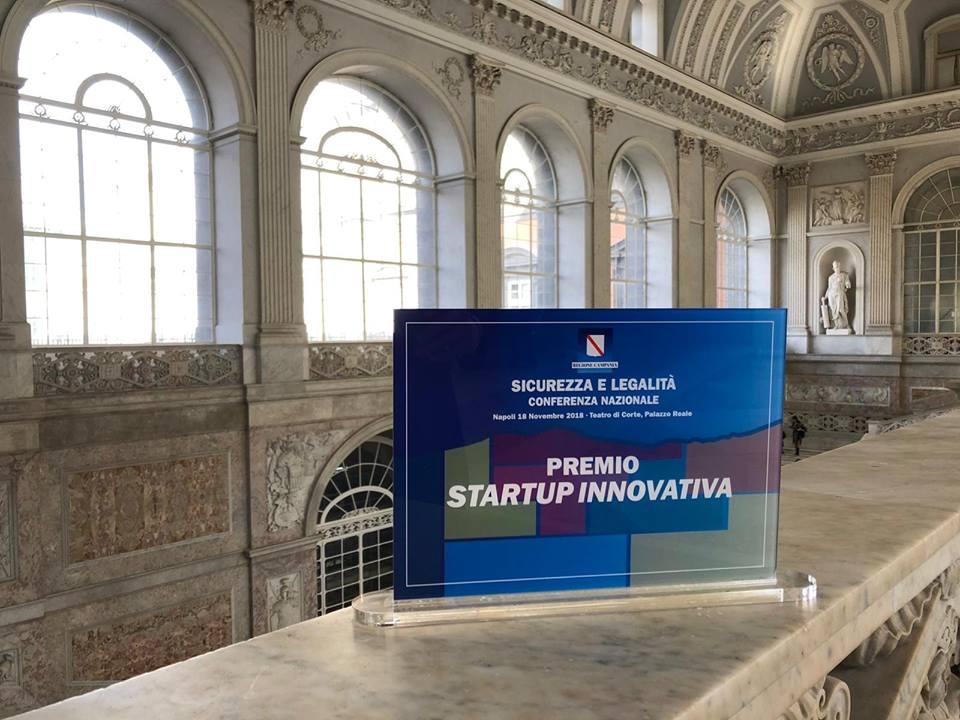 """RisLab tra le startup innovative premiate dalla Regione Campania durante la Conferenza Nazionale su """"Legalità e Sicurezza"""""""